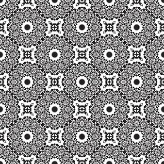 シームレスな曼荼羅パターン。オリエンタルスタイルのヴィンテージ要素。