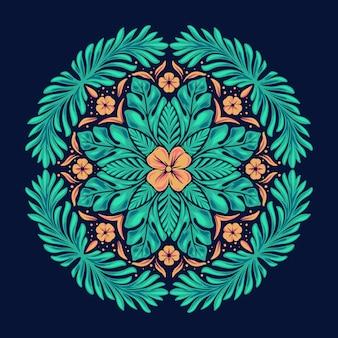 Seamless mandala pattern