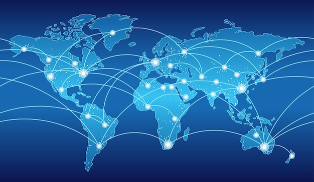 Seamless map of the global network system