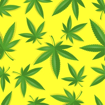 Seamless marijuana cannabis pattern