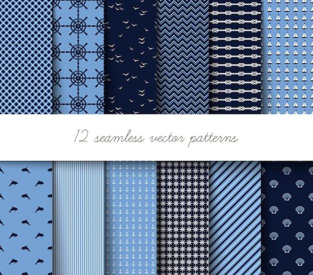 Seamless marine patterns