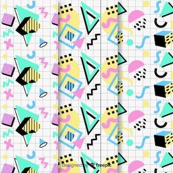 Seamless memphis pattern pack