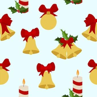 Seamless merry christmas pattern
