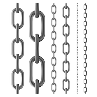 Seamless metal chain