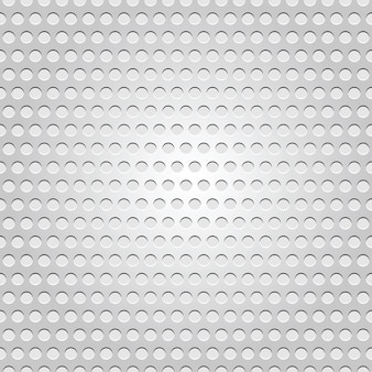Seamless metal surface, light gray background perforated texture