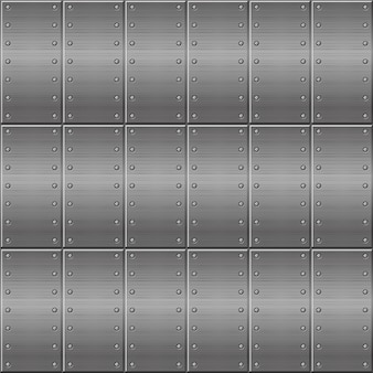 Seamless metallic background, metal plates repeating in a row.