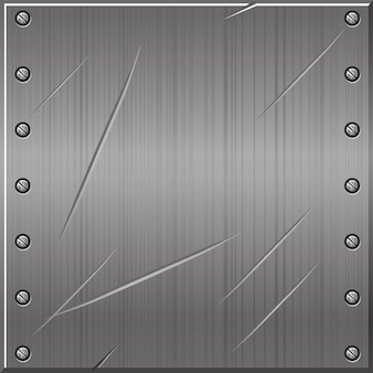 Seamless metallic gray old background with nails. illustration of a textured metal pattern.