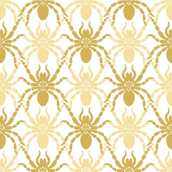 Seamless modern pattern with spiders