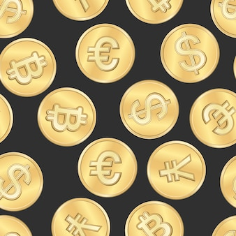 Seamless money payment coins pattern