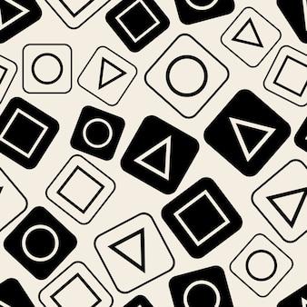 シームレスなモノクロ幾何学的パターンの背景