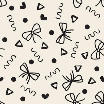 Seamless monochrome ribbon pattern