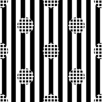 ストライプの背景にシームレスな単色のシンプルなドットパターン
