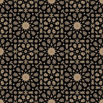 シームレスなモロッコのパターン飾りヴィンテージアラビア語の背景