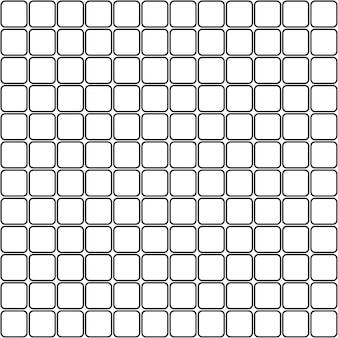 Бесшовные мозаичные квадраты с закругленными углами узором ромбы контуры фона