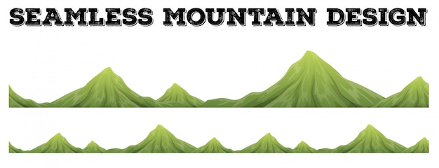 Seamless mountain range