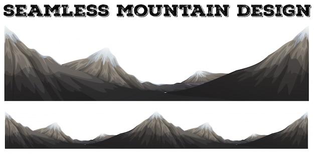 Бесшовная гора с пиком снега