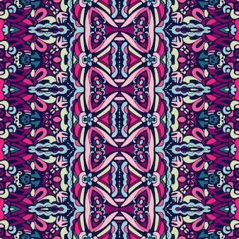 東洋のマンダラを使ったシームレスな多色パターン。ヒッピー マンダラ パターン。万華鏡の要素。