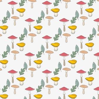 Seamless mushroom background