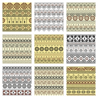 Seamless native pattern set