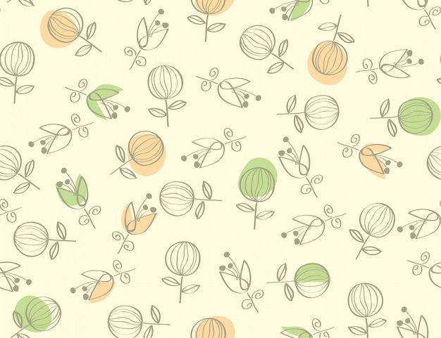 Seamless natural abstract flower pattern background.