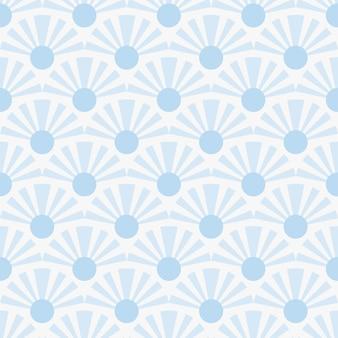 원활한 자연 추상적인 기하학적 파란색 패턴 흰색 배경 일본식