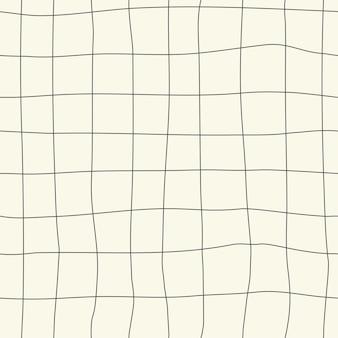 원활한 자연 체크 무늬 패턴 흰색 배경 손 그리기