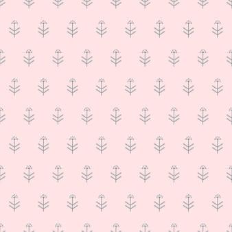 원활한 자연 패턴 추상 식물 기하학적 흰색 배경