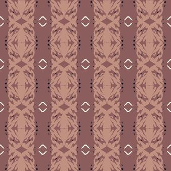 원활한 자연 패턴 추상 모양 및 요소 그리기 갈색 배경 손으로 그린