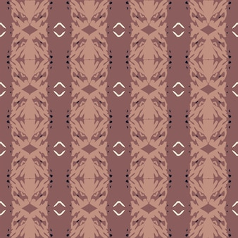Seamless nature pattern  abstract shapes and elements drawing on brown background hand drawn