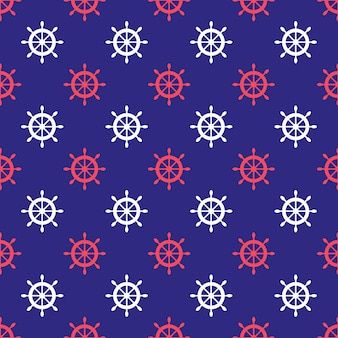 Seamless nautical pattern with ship wheels. design element for wallpapers, baby shower invitation, birthday card, scrapbooking, fabric print etc.