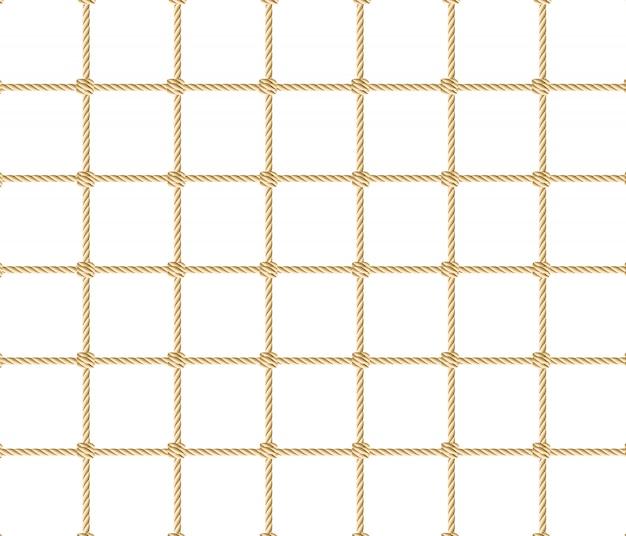 Seamless nautical rope pattern.