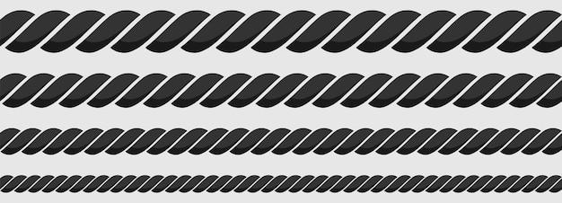 Бесшовный образец морской веревки