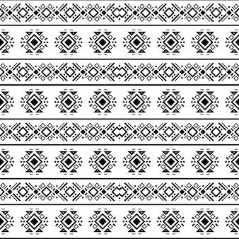 Бесшовные навахо племенных черно-белый узор этнический вектор орнамент