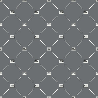Seamless online business pattern on a dark background. online business icon creative design. can be used for wallpaper, web page background, textile, print ui/ux