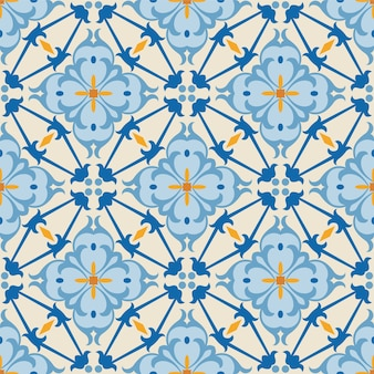 Seamless ornament flower pattern background tile for creative art.