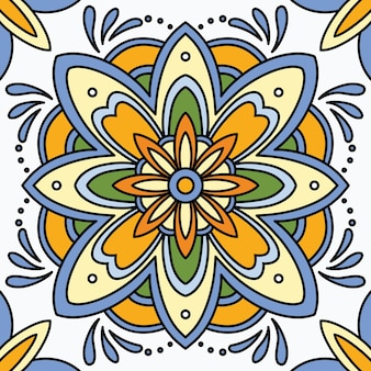 Seamless ornamental tile background.
