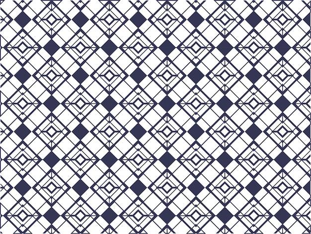 Бесшовные перекрывающиеся геометрические ромб узор фона в синий и белый цвет.