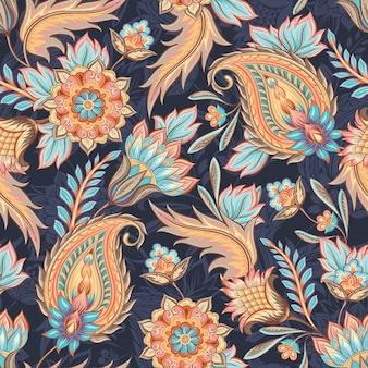 원활한 페이즐리 패턴