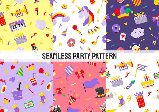 Seamless party pattern