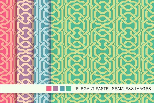 원활한 파스텔 패턴 다각형 형상 크로스 프레임 체인 라인