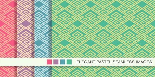 원활한 파스텔 패턴 나선형 체크 크로스 트레이 서리 프레임 라인