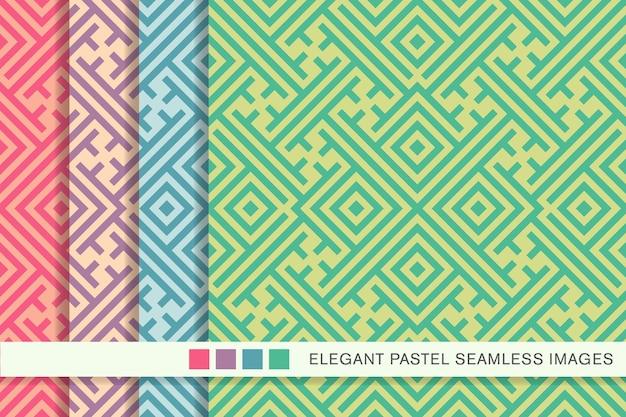 원활한 파스텔 패턴 스퀘어 체크 크로스 트레이 서리 나선형 프레임