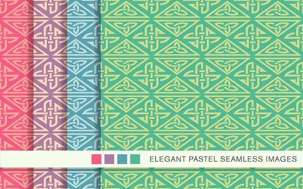 원활한 파스텔 패턴 트라이앵글 체크 크로스 프레임 체인