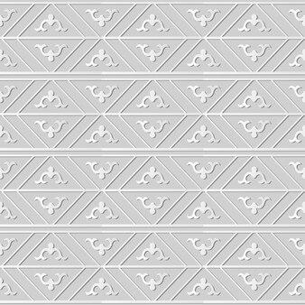 원활한 패턴 3d 종이 예술 복고풍 기하학 체크 프레임 라인