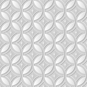 シームレスパターン3 dペーパーアートラウンドクロスフレーム星花