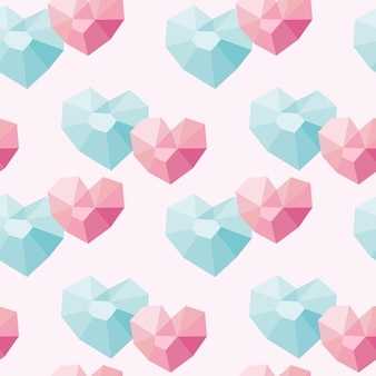 Seamless pattern of abstract geometric shapes