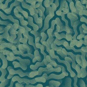 シームレスパターン抽象的な形点描テクスチャトレンディなターコイズ