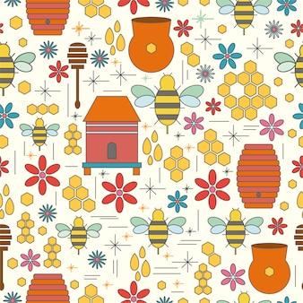 Seamless pattern apiary