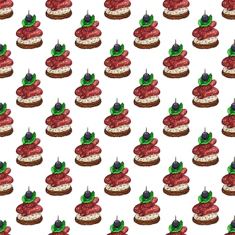 Seamless pattern of appetizing canapes