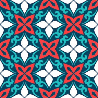 Seamless pattern arabic ornamental ceramic tile